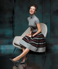 Love the skirt! Love the whole outfit actually. If I worked at an office I'd dress like this every day.