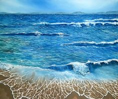 Seascape, painting, coastal,scene,ocean,waves,blue,rough,beautiful,images,contemporary,modern,wall,art,awesome,cool,artwork,for,sale,home,office,decor,fine,oil,nature,sea,beach,shore,sandy,splashing,crashing,breaking,lace,items,ideas