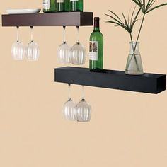 LOVE these wine shelves