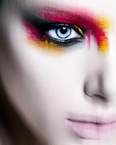 "make-up-is-an-art: ""The Female of the Species is Deadlier than the Male Photography by Steve Kraitt Model: Nell Nabarro MUA: Marina Keri "" Dark Makeup, Glam Makeup, Makeup Art, Beauty Makeup, Eye Makeup, Makeup Ideas, Makeup Stuff, Blur, Female Of The Species"
