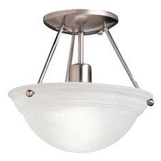 Kichler Single-Light Semi-Flush Ceiling Light | 3121NI | Destination Lighting