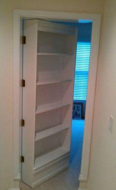 How To Make A Secret door-- I love this Idea.. a secret door would be so fun!