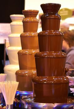 Indulge your guests with a delicious Chocolate Fountain guaranteed to delight and create the WOW factor!  Everybody loves chocolate and our fabulous Fountains, dripping in the finest quality Belgian chocolate and surrounded by a huge array of tasty dipping ingredients, will create a focal point at your event and leave a lasting impression.   http://bigfootevents.co.uk/weddings/finishing-touches/Chocolate-Fountains.aspx
