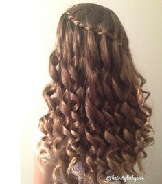 Waterfall Twist with curls