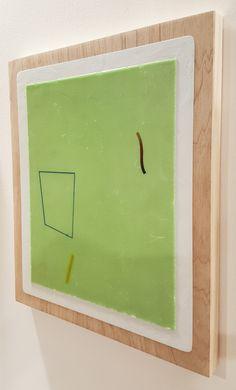 Nathan Suniula, 'Green hue residue', acrylic on ply wood panel, 2016