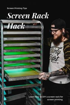 Looking for an economical way to make a screen rack? Golden Press Studio released a video that demonstrates how they made their own screen rack for screen printing. Head to YouTube to watch!