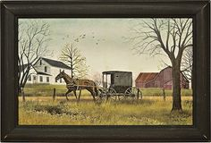 Goin' To Market by Billy Jacobs Amish Horse Buggy Farm Barn Country Primitive Folk Art Framed Print Picture Wall Art Prints, Poster Prints, Framed Prints, Canvas Prints, Art Posters, Pierre Bonnard, Mary Cassatt, Camille Pissarro, Henri Matisse