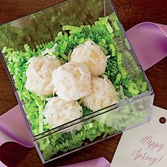 Bunny Tail Bonbons | MyRecipes.com
