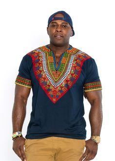 Men's African Print Dashiki T-Shirt (Navy) http://www.99wtf.net/men/mens-hairstyles/trendy-fantastic-hair-products-men/