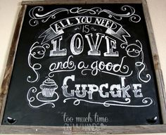 Gigantic Chalkboard DIY.  Notice how drawer pulls were used as chalk holders!  Very clever.