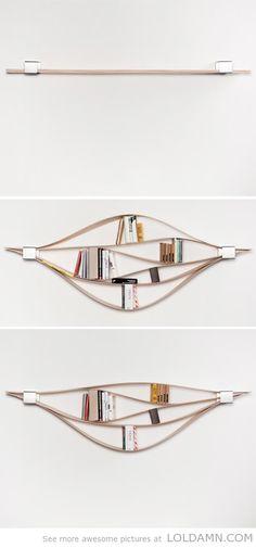 A flexible bookshelf