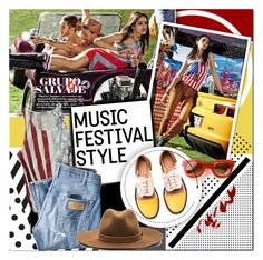 """I Love Music Festival Style"" by barbarela11 ❤ liked on Polyvore featuring moda, Post-It, Wrangler, Minimarket, rag & bone, Thierry Lasry, women's clothing, women, female y woman"