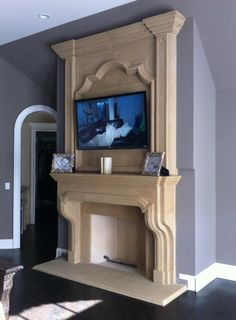 Stone Overmantel Fireplaces   Marble Over Mantels   Cast Stone Surrounds   Limestone Upper Mantel