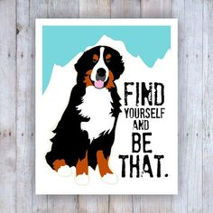 Bernese Mountain Dog Art Swiss Mountain Dog Dog by GoingPlaces2