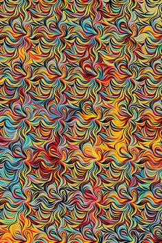 """""""Fire"""" wrapping paper by Marian Bantjes for Hemlock Printers"""