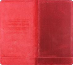 Leather | Raw Edge - Bill Presenter - Red K Leather - Leather Side Up - Strip Pocket
