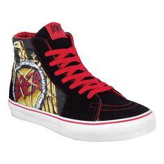 Slayer Shoes | Vans skateboard shoes SK8 HI Slayer - Black / Red