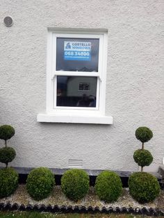 Beautiful and Affordable Townhouse Sash Windows in White. The Townhouse Sash opens out rather than sliding up and down, giving full fire escape and a lower price windows. From Costello Windows Glin, Co. Fire Escape, Composite Door, Sash Windows, Townhouse, Beautiful, Terraced House, Sliding Windows