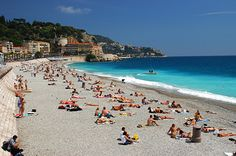 Nice, France - only spent an afternoon here, but it was lovely, and it was April, so no hoards of people like this #travel #beach #Mediterranean