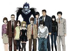 Death Note characters - Sachiko Yagami, Soichiro Yagami, Sayu Yagami, Misa Amane, Light Yagami, L Lawliet, Touta Matsuda, Kanzo Mogi, Naomi Misora, Shuichi Aizawa and Ryuk.
