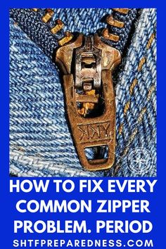 Having an issue with your zippers? Not anymore! Sewing Hacks, Sewing Crafts, Sewing Projects, Sewing Stitches, Sewing Patterns, Sewing Clothes, Diy Clothes, Emergency Preparedness Plan, Zipper Repair