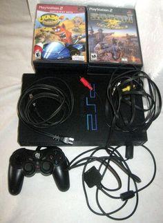 "Sony PlayStation 2 ""Fat"" Console NTSC SCPH 30001 w Controller 16 Games | eBay"