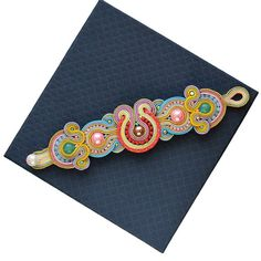 Colors sweet as candy  Amazing soutache by RainbowSoutache on Etsy