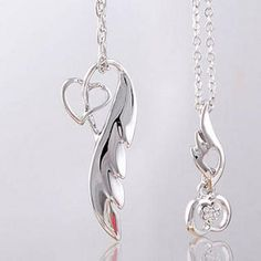 Couple Set: Rhinestone Wing Heart Pedant Asian Fashion, Diamond Jewelry, Wings, Lifestyle Online, Drop Earrings, Personalized Items, Couples, Heart, Shopping