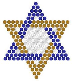 Star of David Fuse Bead Pattern Perler Bead Designs, Easy Perler Bead Patterns, Fuse Bead Patterns, Perler Bead Templates, Beading Patterns Free, Perler Bead Art, Perler Beads, Hanukkah Crafts, Jewish Crafts