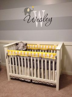 Project Nursery - Yellow and Gray Elephant Nursery