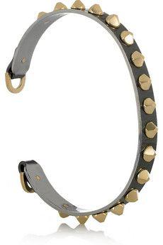 Philip Crangi- Blackened steel cuff w/ 14k gold studs. A mere 6k