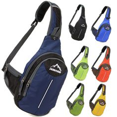 Men women's outdoor Travel Sport Chest bag Shoulder Messenger Bag Sling Backpack