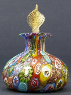 MURANO ITALIAN GLASS PERFUME BOTTLE : Lot 299