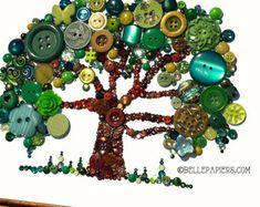 8 x 10 Button Kunst Rooster Küche Kunst Button Art von BellePapiers
