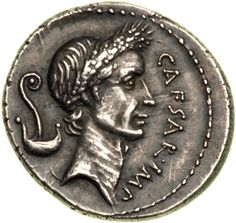 """In Luke 20:23-25 Jesus requested a coin and then asked the crowd whose image was on it. They replied that it was """"Caesar's."""" Several types of coins were in circulation at that time that showed an image of Caesar, with the one displayed here being a typical example. It contains the image of Tiberius Caesar who reigned 14-37 AD, the time of the ministry of Christ. The text on the silver platted coin is written in Latin."""