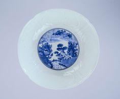 Kom van porselein met geschulpte rand, 1700 - 1730