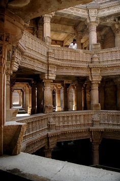 The Most Trending Pins: Ancient Stepwell, Gujarat, India. Indian Temple Architecture, India Architecture, Historical Architecture, Ancient Architecture, Beautiful Architecture, Architecture Design, Gothic Architecture, Building Architecture, Amazing India