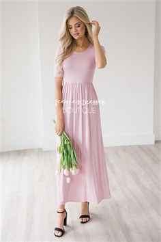 5c88441f7a95 Soft Pink Summer Maxi Dress | Best Modest Online Boutique | Cute Modest  Dresses and Modest Clothes