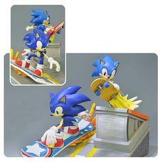 Sonic the Hedgehog de Sonic Generations Diorama Statue - Primeiras 4 Figures - Sonic the Hedgehog - Estátuas em entretenimento Planeta Terra