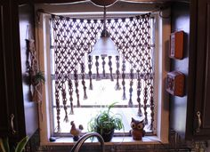 Macrame Curtain Macrame Wall Hanging Vintage by TheEarthDivine