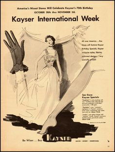 Ad from 1940 celebrating seventy years of Kayser Gloves. #vintage #1940s #gloves #ads