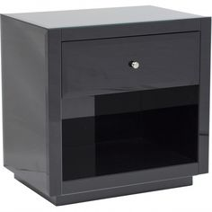 Farrah Side Table, Black - Furniture - Bedroom - Nightstands