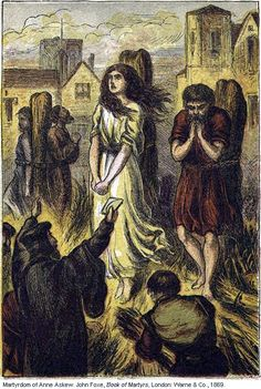 1869 Illustration of the Martyrdom of Anne Askew