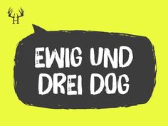 Ewig und drei dog... | Bayerische Sprichwörter zum Pinnen und Sammeln. Egal ob Wort, Spitzname, Spruch oder Schimpfwörter, wir haben die Besten für dich aus Bayern! Schau auch bei Instagram und Facebook rein! #bayern #bayerisch #bayer #bayrisch #boarisch #bayerischesprüche #dialekt #heimat #heimatliebe #tracht #lederhose #dirndl #dult #oktoberfest #volksfest #regensburg #münchen #minga #straubing #nürnberg #landshut #augsburg Statements, Bavaria, Humor, Instagram Posts, Quotes, Bayern, Short Sayings, Pretty Words, Humour