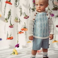 Vintage style inspired jumper handknitted of Van Beren Organic Cotton Yarn for baby boys and toddler in two colour diamond pattern. Cotton Plant, Organic Cotton Yarn, Hand Knitting, Knitting Patterns, Natural Clothing, Diamond Pattern, Colored Diamonds, Graham, Knits