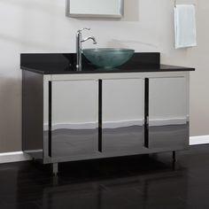 Photo Gallery For Photographers stainless steel bathroom vanity Bathroom Vanities Vessel Sink Vanities Landen Stainless