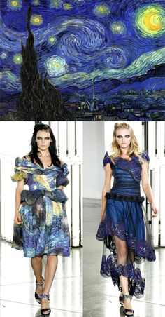 """…Rodarte Spring 2012…. It's another Wednesday, and the sixth edition of my """"Design Under the Influence"""" column on La Dolce Vita! I'm sharing a few bits of trivia about Van Gogh's painting The Starry Night, and its influence as seen in decor and music.While researching the post, I came across Rodarte's Spring 2012 collection, in […]"""