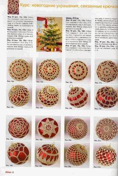 Patrones de crochet para decoración Navidad - Schemi