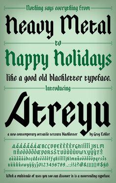 Atreyu Font on Behance