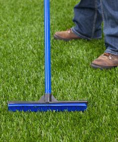 SYNLaw is the easiest Synthetic Turf to maintain. Rake and spray off once a month.